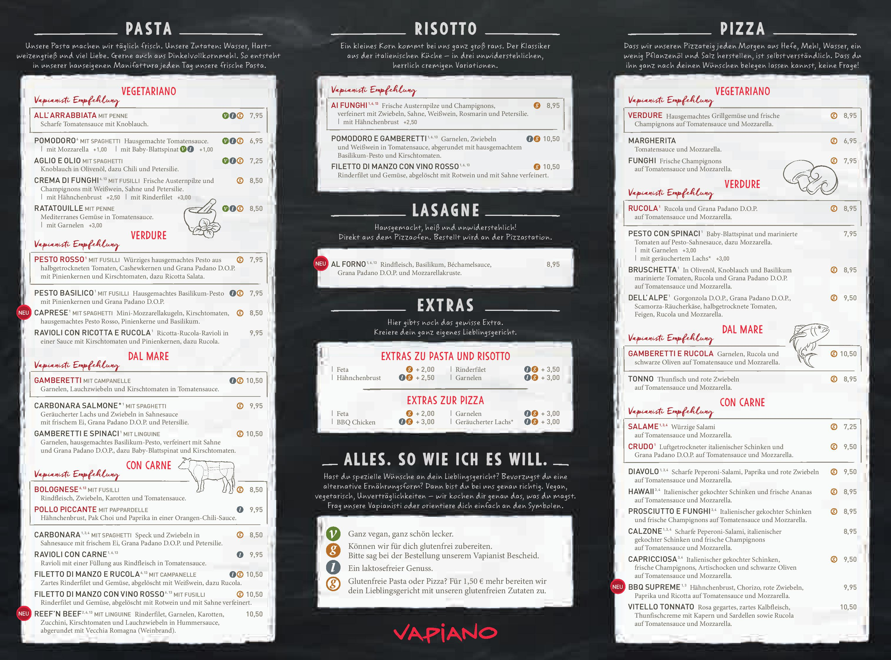 The Stand Restaurant Menu