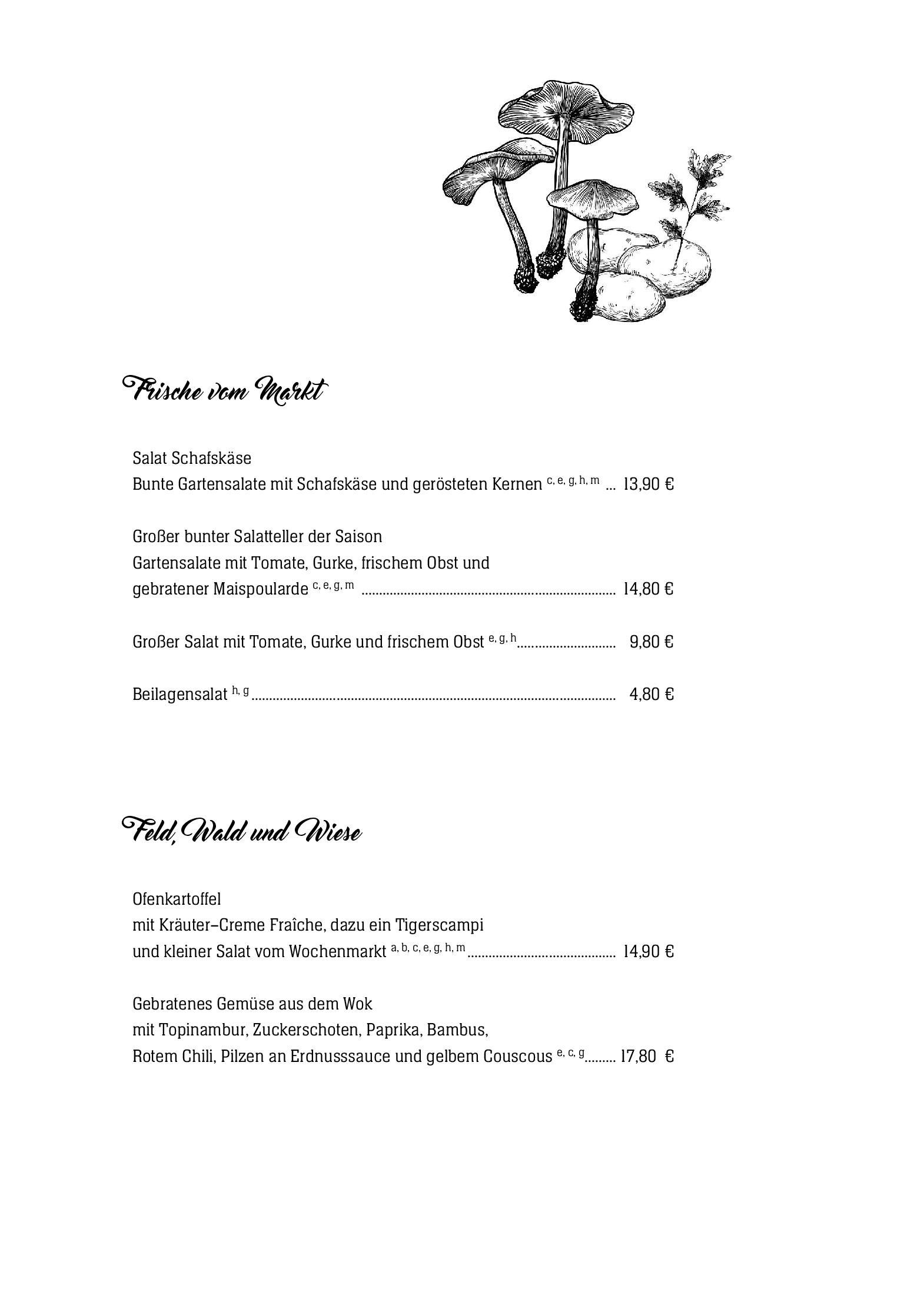 Hotel Zur Post Wiehl Speisekarte