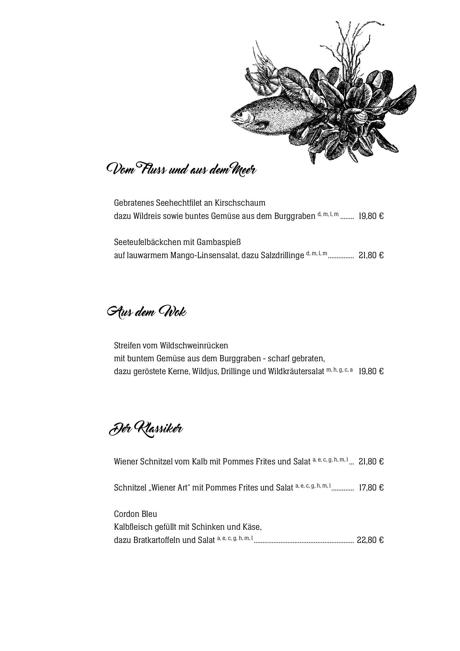 Hotel Zur Post Wiehl Restaurant Speisekarte