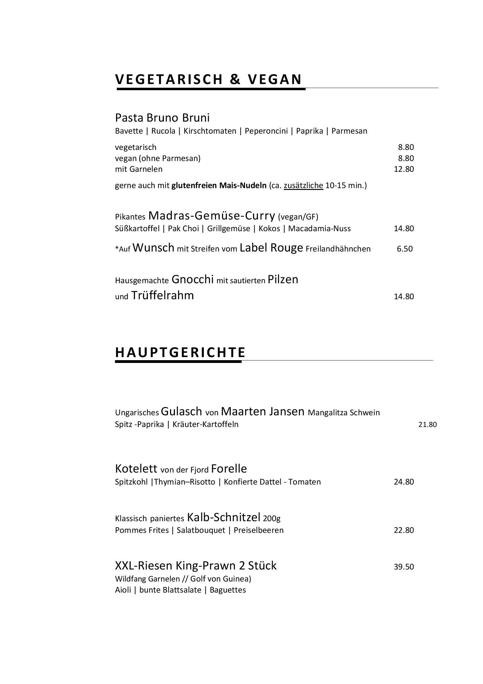 . Speisekarte   Restaurant Livingroom in Bochum   DeutschlandGourmet