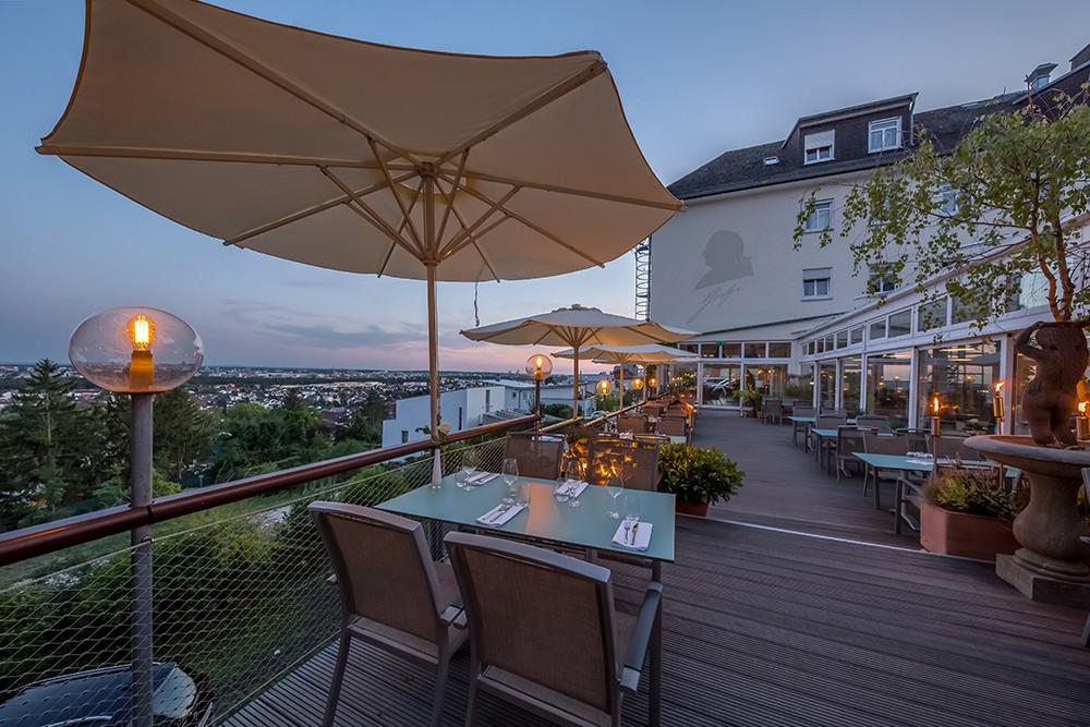 restaurant sch ne aussicht in frankfurt am main. Black Bedroom Furniture Sets. Home Design Ideas