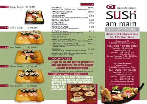 restaurant sushi am main in frankfurt am main. Black Bedroom Furniture Sets. Home Design Ideas