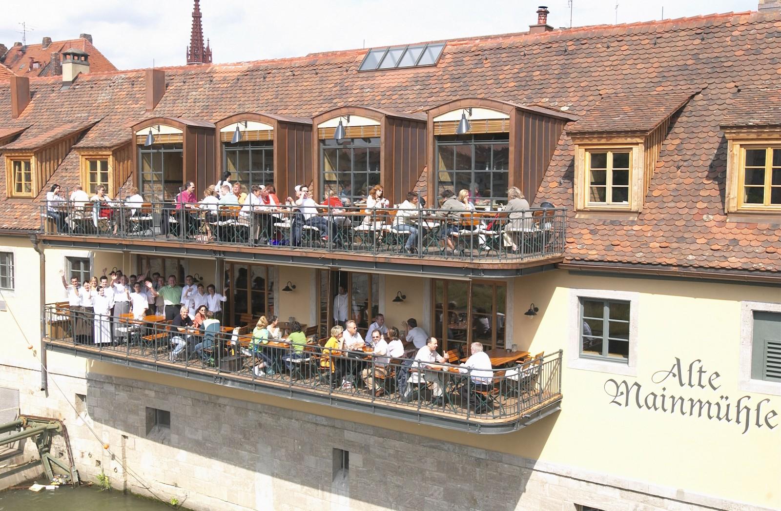 restaurant alte mainm hle in w rzburg. Black Bedroom Furniture Sets. Home Design Ideas