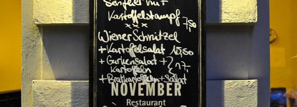 Restaurants in Berlin: November