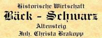 Restaurant Historische Wirtschaft Bck-Schwarz in Altensteig