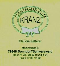 Logo von Restaurant Gasthaus Zum Kranz Bonndorf in Bonndorf