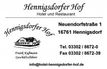 Restaurant Hennigsdorfer Hof in Hennigsdorf