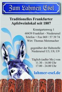 Logo von Restaurant Zum Lahmen Esel in Frankfurt am Main