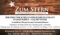 Logo von Restaurant Wirtshaus zum Stern in Bad Soden-Salmünster