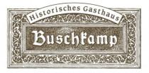 Logo von Restaurant Historisches Gasthaus Buschkamp in Bielefeld