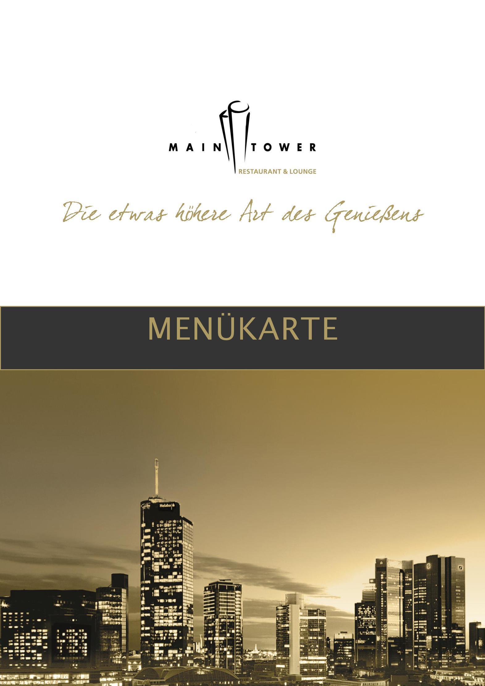 Maintower Restaurant Speisekarte
