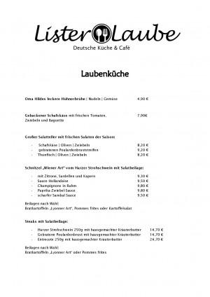 Restaurant Lister Laube Deutsche Küche Cafe in Hannover